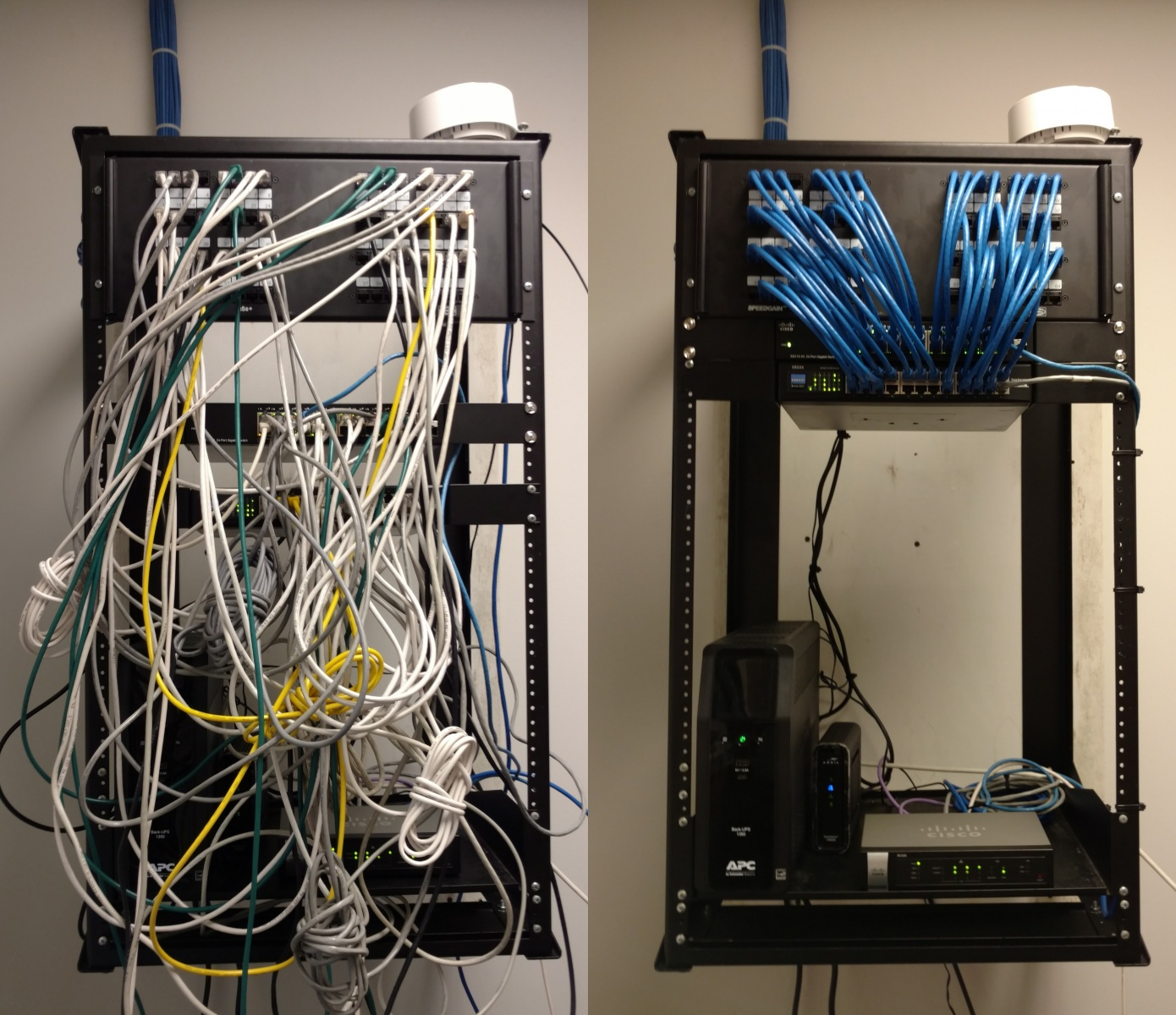 Cleaning up a server rack | Newport News, VA