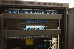 Installing a network rack | Hampton, VA