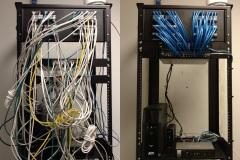 Cleaning up a server rack | Newport News, VA